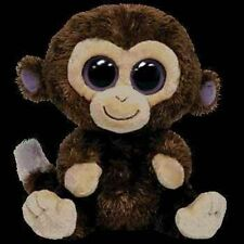 Ty Beanie Boos COCONUT Brown Monkey Big Eyes Beanie Babies Plush Stuffed Animal