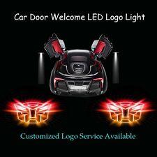 2x 3D Glaring Transformers Autobot Logo Car Door Projector Shadow CREE LED Light