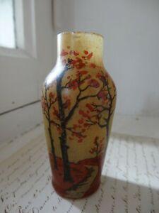petit vase 9 cm signé J.ROBERT peint à la main, 1900 art nouveau ancien vintage