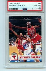 1993 Hoops Michael Jordan #28 PSA 10 Gem Mint Chicago Bulls HOF GOAT LEGEND