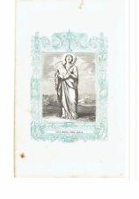 1853 Grabado, Santa Barbara Virgen y Martir