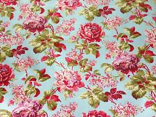 3 Metre Length 100% Fine Poplin COTTON Retro Roses Dress Craft Quilting Fabric