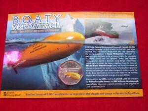 2019 Boaty McBoatface Antarctic 50p Coin COLOURED PRESENTATION