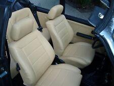 VW Golf 1 Cabrio, Ledersitze, Lederausstattung,  Kunstleder, Sitzbezüge, beige
