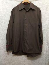 PS PAUL SMITH Brown Button Down Dress Shirt M EUC