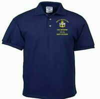 USS INTREPID  CV-11  NAVY ANCHOR  EMBROIDERED LIGHT WEIGHT POLO SHIRT