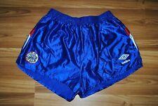 1980s AJAX AMSTERDAM UMBRO FOOTBALL SOCCER SHORTS VINTAGE BLUE COLOR S-M RARE