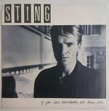 "Sting  If You Love Somebody Set Them Free Single 7"" UK 1985"