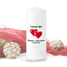 Hochzeitskerze Level up! inkl. Personalisierung Hochzeit Traukerze Trauung Nerd