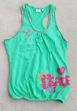 BUTTERFLY By Matthew Williamson Debenhams Green Vest Top 100% Cotton 15-16 Years