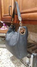 Michael kors black soft leather handbag hobo purse bag