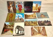 13 VTG OVERSIZE POSTCARDS ENGLAND QUEEN & DUKE CROWN JEWELS CATHEDRAL ARMOR