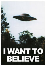 The X-Files I Want to Believe UFO Vintage Sci-fi TV Series Poster