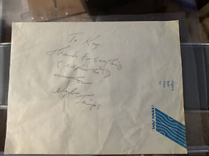 Waylon Jennings Signed Autographed Airplane Flight Stationary JSA Authentication
