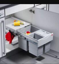 Hafele 35L Waste/Recycle Bin 400mm Kitchen / Utility Room Bin 1 x 18L, 2 x 8.5L