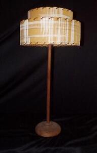 VTG LAMP SHADE FIBERGLASS 50s 60s ROUND MID CENTURY MODERN TWO TIERED DRUM