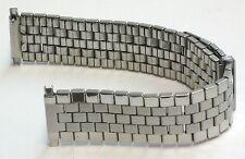 Voguestrap Mens Watch Band Vintage Slide Adjustable Brick Link 16mm-22mm Stretch