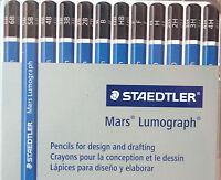 Staedtler Mars Lumograph 12 Pencil Set 4H through 6B - Made In Germany