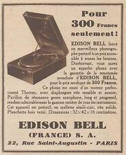 Z8533 Phonographe portatif EDISON BELL - Pubblicità d'epoca - 1931 Old advert