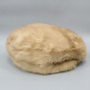 "Mme. Foore of Beverly Hills Natural Mink Fur Blonde Women's Hat 22"""