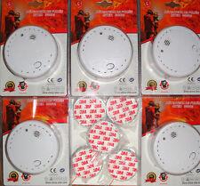 5 x Rauchmelder + 3M Magnethalterungen /10 Jahres Lithium Batterie/DIN EN14604NF