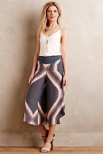 Anthropologie Tamsin Silk Crops by Elevenses Silk Cargo Pants Size 2