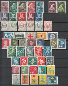 Netherlands - small stamp lot-4 - MH only complete sets! (8063)