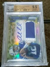 2013 Topps Finest Andrew Luck CAMO REFRACTOR PATCH AUTO SP/10 BGS 9.5 GEM MINT