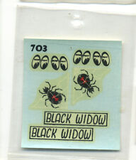 vtg original monte decal water slide model kit Moon Equipped Black Widow hot rod