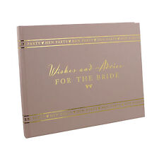 HEN PARTY Wishes & Advice For The Bride Pink Guest Book  WG693