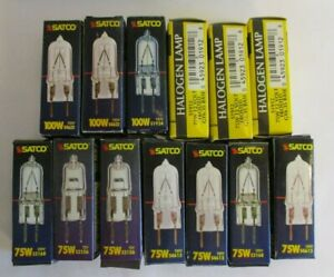SATCO  Bi-Pin 100W and 75 W Halogen Light Bulbs Brand New Lot of 13