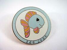 Collectible Pin: SAN JUAN Blue Fish