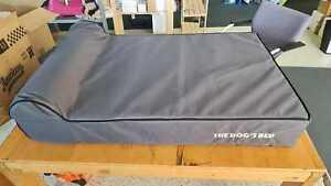 The Dog's Bed Orthopaedic Dog Bed Large Grey Plush 101x64cm Premium Washable