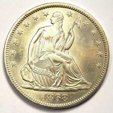 1868-S Seated Liberty Half Dollar 50C Coin - UNC Details (MS, Smoothed) - Rare!