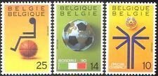 Bélgica 1990 Sport/juegos/Fútbol/desactivado Basketball/Juegos Olímpicos Especiales 3v n43247