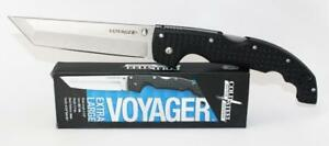 Cold Steel Voyager X Large Tanto Point Knife Plain Edge AUS 10A Steel 29AXT