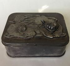 METZKE PEWTER TRINKET BOX WITH TURTLE 1976
