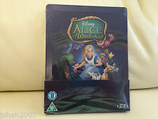 DISNEY ALICE IN WONDERLAND ZAVVI EXCLUSIVE STEELBOOK BLU RAY **NEW & SEALED**