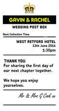 Personalised Black royal mail insert post box Wedding Card Wishing Well