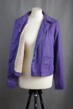 P319/23 Dickins & Jones Lavender Linen Lined Cotton Light Jacket, size 12