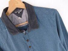 jy3698 Ted Baker Maglietta Polo ORIGINALE PREMIUM BLU MISURA 5