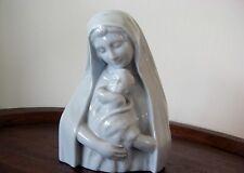Porzellanfigur Vintage Madonna mit Kind Teco Bois de Breux