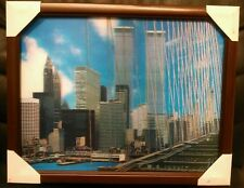 "New York City Twin Towers World Trade Center 3-D Framed Picture, 14 1/2""x11 3/4"""