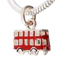 Toc Beadz Rosso London Bus Pendente da Infilare Ciondolo Perlina