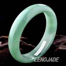 "Certified Chinese ""Dong Ling Yu"" Green Jade Bangle Bracelet 100% Genuine 58-62MM"