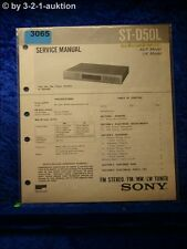 Sony Service Manual ST D50L Tuner  (#3065)