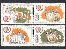 Senegal 1985 Tractor/Farming/Football/Communication/Youth/Peace 4v set (n35897)