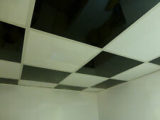 Easy Clean Washable/Wipeable Suspended Ceiling Tiles - Red, Black, Blue, White..