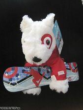 2013~Collectible Target Bullseye Dog~St Jude Stuffed Plush~Snowboard~Nwt