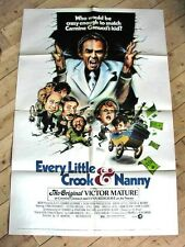 EVERY LITTLE CROOK & NANNY Vintage Movie Film Poster VICTOR MATURE DOM DELUISE